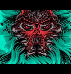 Beast scene cartoon vector