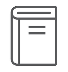 Book line icon school and education learning vector