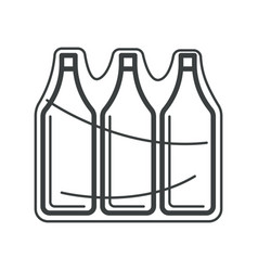 bottles in pack plastic containers in plastic vector image