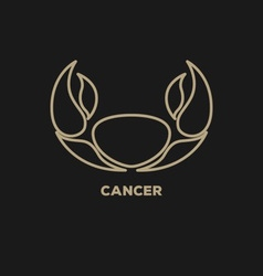 Cancer Horoscope Icon vector image