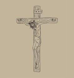 Christ on cross vector