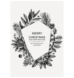 Christmas greeting card or invitation design vector