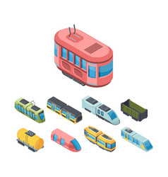 city public transport isometric 3d vector image