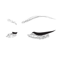 closed eyes drawing vector image