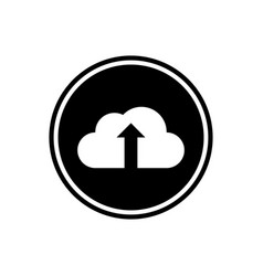 cloud and up arrow flat icon vector image