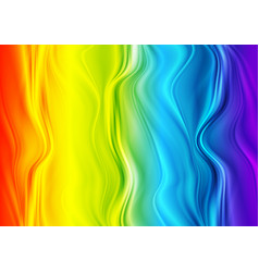 colorful iridescent abstract wavy background vector image