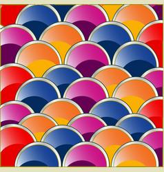 colour circles by correct rows vector image