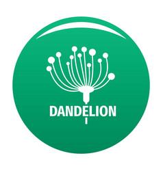 Cute dandelion logo icon green vector