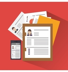 Document and human resources design vector