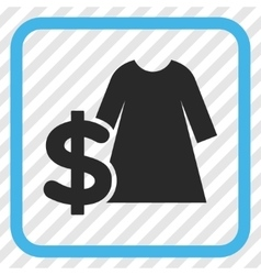 Dress Price Icon In a Frame vector