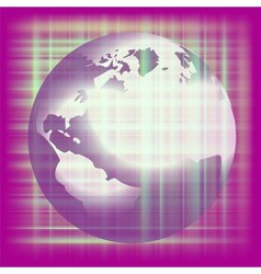 Earth space purple background vector