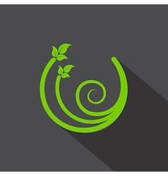 Eco leaf icon vector image