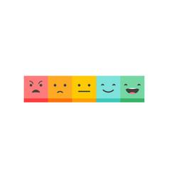 Emoticons scale - feedback concept design vector