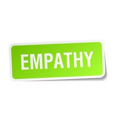 Empathy square sticker on white vector