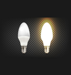 Energy save electric glowing led light lamp vector