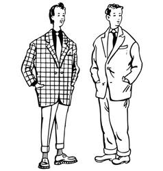 fancy man 20 century vector image
