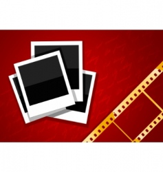film and camera background vector image