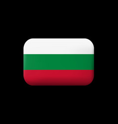 Flag of bulgaria matted icon and button vector