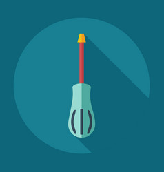 Flat modern design with shadow icons screwdriver vector