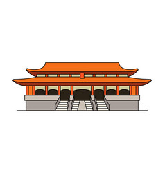 forbidden city icon vector image