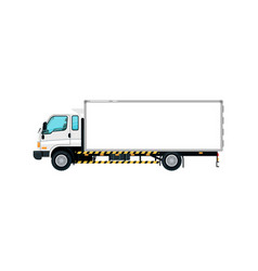 freight container truck isolated icon vector image