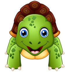 funny cartoon turtle vector image