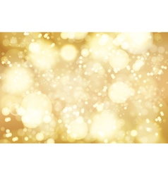 Golden bokeh background abstract defocused bright vector