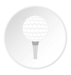 golf ball with tee icon circle vector image