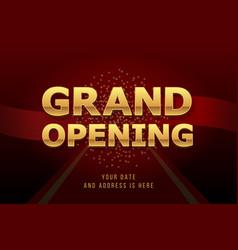 grand opening invitation concept luxury design vector image