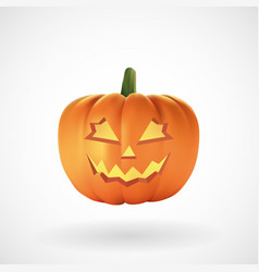 halloween pumpkin with white background vector image
