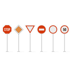 highway road signs traffic road speed vector image