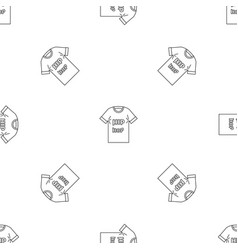 Hip hop tshirt pattern seamless vector