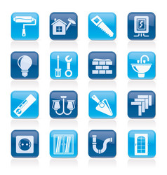 Home repair and renovation icons vector
