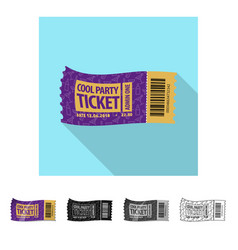 Isolated object of ticket and admission icon vector