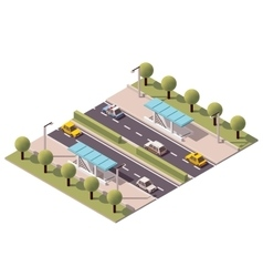 isometric highway underpass vector image