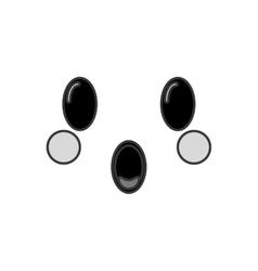 Kawaii happy facial expression icon vector