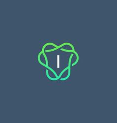 letter i logo monogram minimal style identity vector image