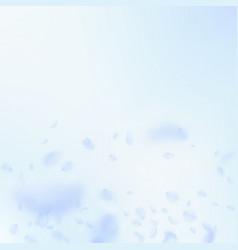 Light blue flower petals falling down artistic ro vector