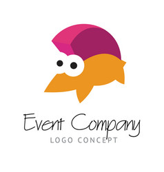 logo concept with funny hedgehog vector image