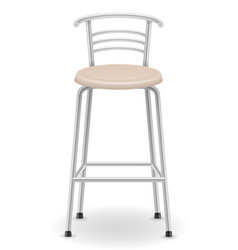 Metallic bar chair stool vector