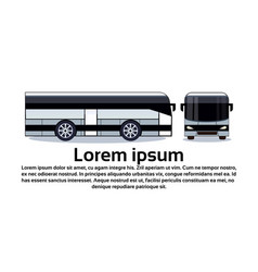 modern white bus for tourist travel or city vector image