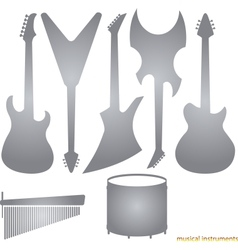 Music instruments silhouettes vector image
