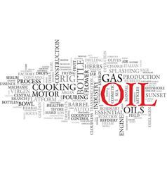 Oils word cloud concept vector
