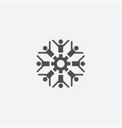 people gear icon vector image