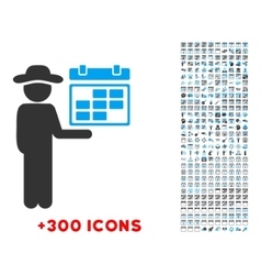 Person Schedule Icon vector