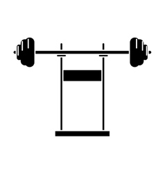 pictogram weight barbell equipment fitness gym vector image