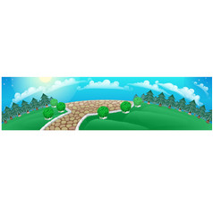 picture in form a panoramic wide-angle vector image