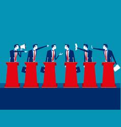politicians participating in political debate vector image