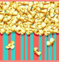 Popcorn pattern vector