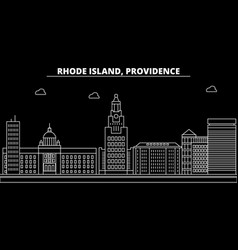 providence silhouette skyline usa - providence vector image